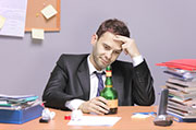 Working long hours may raise the risk for alcohol abuse