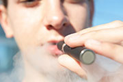 Electronic cigarette use is associated with initiation of combustible tobacco product smoking among adolescents