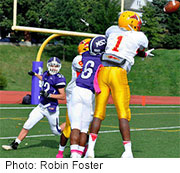 Children who play football in middle school don't appear to have any noticeable short-term brain damage from repeated hits to the head