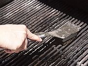 Wire bristles from grill brushes can snap off