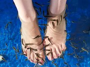 A woman lost several toenails after a fish pedicure