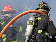 Most cardiac fatalities among firefighters have evidence of coronary heart disease and increased heart mass