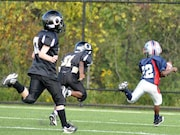 The athlete-level incidence of concussion is 5.1 percent per season for American football players aged 5 to 14 years
