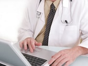 Roughly half of internal medicine physicians report working in a practice that has telehealth technology