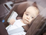 About 3 percent of sleep-related infant deaths occur in a sitting device