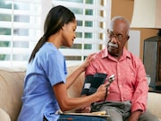 Intensive blood pressure lowering nonsignificantly reduces the risk for recurrence among patients with a history of stroke compared with a standard blood pressure-lowering regimen