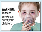 Graphic new health warnings must appear on cigarette packages and in cigarette ads beginning next year