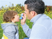 The prevalence of asthma is about 10 percent higher for children with versus those without a disability