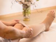 For patients with chronic edema of the leg and cellulitis