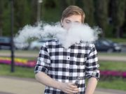 Use of electronic cigarettes by teens is not significantly associated with wheezing